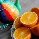 чайник и цитрусы
