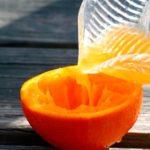 корка половинки апельсина
