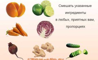 инфографик приготовления смузи