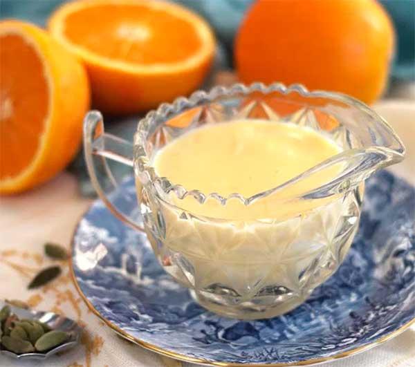 заварной крем с апельсинами