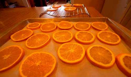 дольки апельсина в духовке