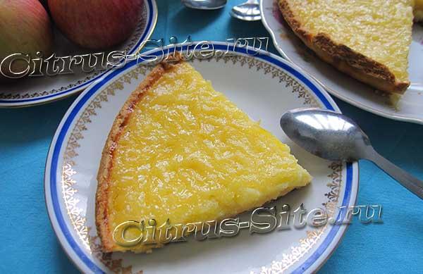 кусок открытого пирога