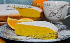 апельсиновый пирог на сметане