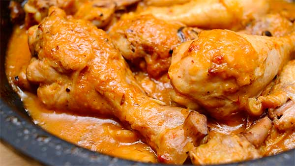 куриные голени в соусе