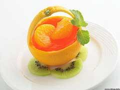 корзинка из кожуры апельсина