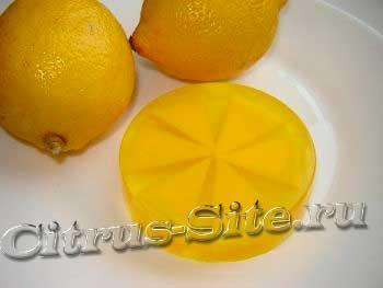 лимонное мыло ручной работы