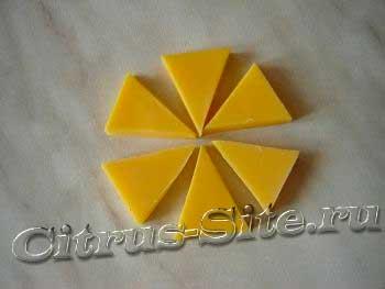 мыло в форме треугольников