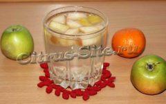 мандариновый напиток с яблоками