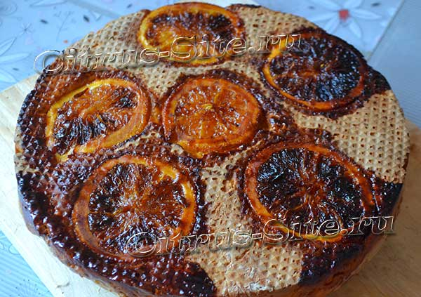 перевернутый пирог с апельсинами