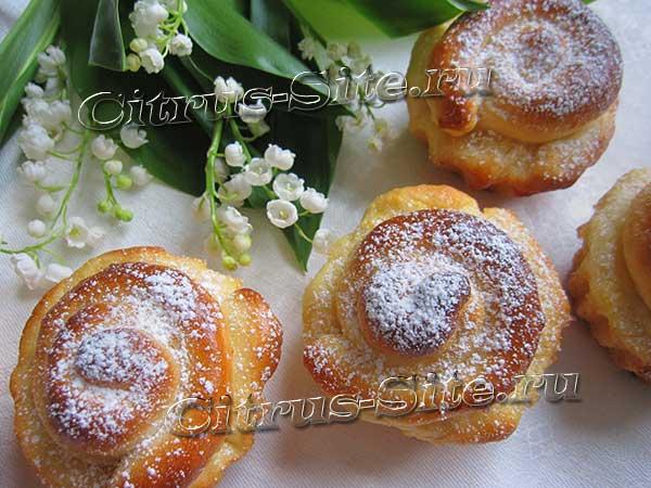 готовые лимонные булочки