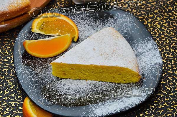 кусок апельсинового пирожка