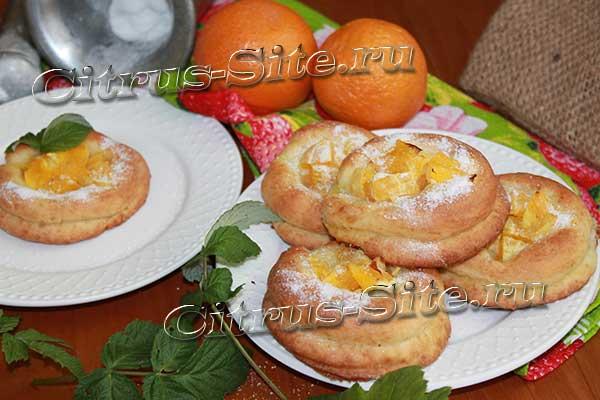 тарталетки с апельсинами