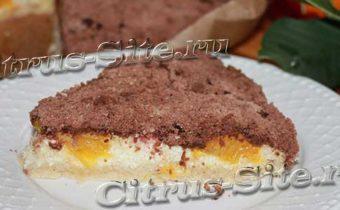 творожно-песочный пирог с апельсином