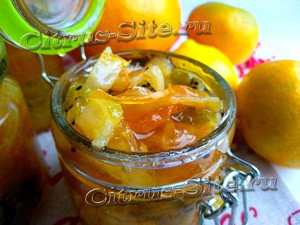 варенье из долек мандаринов