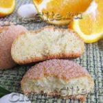 апельсиновое мраморное печенье