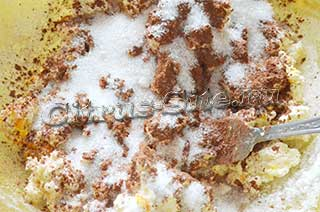 внесение какао и сахара
