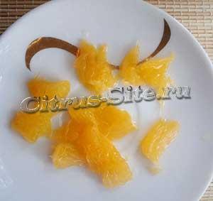 кусочки апельсина