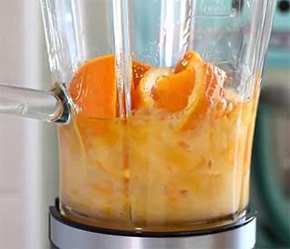 взбивание целого апельсина