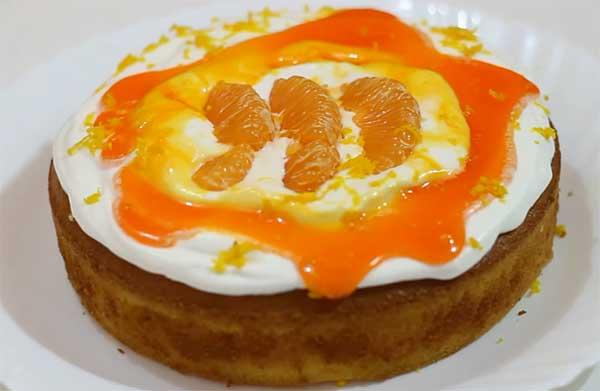 кекс под апельсиновой глазурью