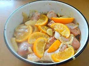 голени и апельсины