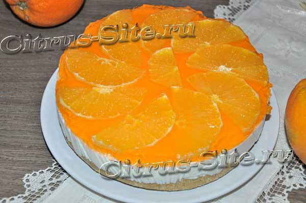 апельсиновый чизкейк с желе